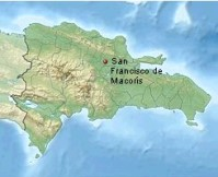 Little map of the Dominican Republic